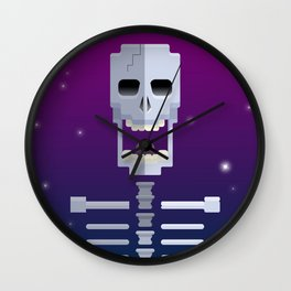 Cosmic Skull Wall Clock