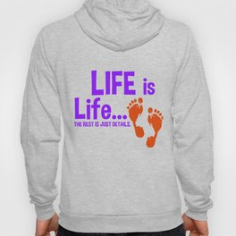 Womens Pro Life Gift Print Anti Abortion Life Is Life Tee Hoody