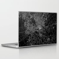 north carolina Laptop & iPad Skins featuring raleigh map north carolina by Line Line Lines