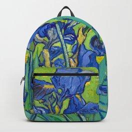 Vincent Van Gogh Irises Painting Detail Backpack