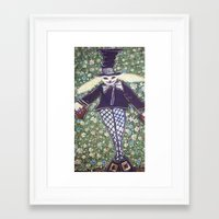 mad hatter Framed Art Prints featuring mad hatter by helendeer