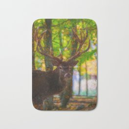 The deer stag by Brian Vegas Bath Mat