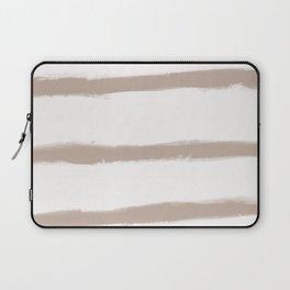 Medium Brush Strokes Horizontal  Nude on Off White Laptop Sleeve