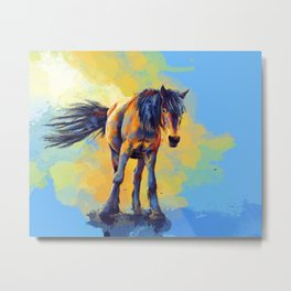 Horse in the Sunlight Metal Print