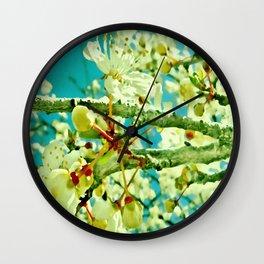 spring blossom vintage Wall Clock