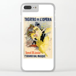 Belle Epoque vintage poster, French Theater, Theatre de L'Opera Clear iPhone Case
