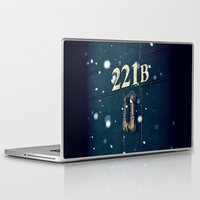 221b Laptop & iPad Skins featuring Victorian 221B by MarinaArt
