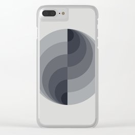 Marble Gray Globe LT Clear iPhone Case