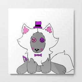 Stuffies Wolfie Metal Print