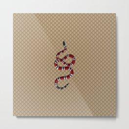 Gucci/GG Snake Pattern Beige/Brown Metal Print