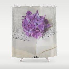 Lilac Bookmark II Shower Curtain