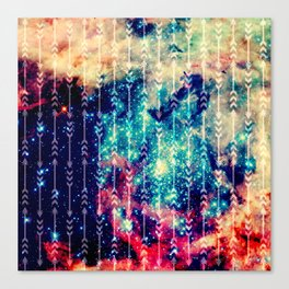 Galaxy Arrows Canvas Print