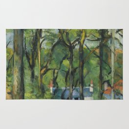 "Paul Cezanne ""The Orchard. La côte Saint-Denis à Pontoise"" Rug"
