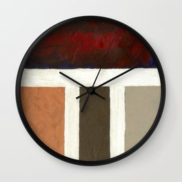 Textured Cubism -Modern Art - Office Art - Hospitality Art Wall Clock