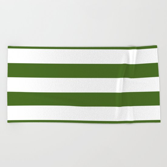 Simply Stripes in Jungle Green Beach Towel