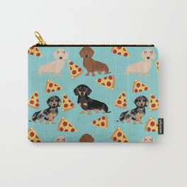 dachshund pizza multi coat doxie dog breed cute pattern gifts Carry-All Pouch