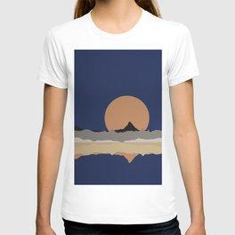 Full Moon Rising Over Sierra Nevada Mountains T-shirt