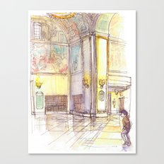 Golden Rotunda Canvas Print