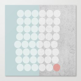 Concrete Dots Canvas Print