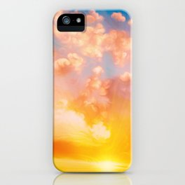 Sunset feather iPhone Case