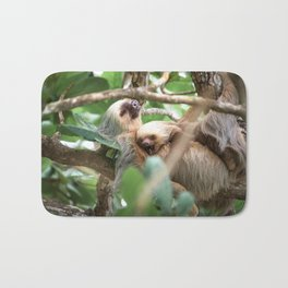 Yawning Baby Sloth - Cahuita Costa Rica Bath Mat