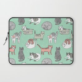Cat pattern cute nursery cat lady kittens by andrea lauren Laptop Sleeve
