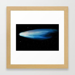 The comet Framed Art Print