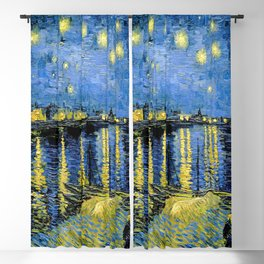 Vincent van Gogh Starry Night over the Rhone Blackout Curtain