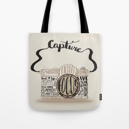 Cute Camera Typography Tote Bag