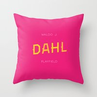 roald dahl Throw Pillows featuring Dahl Playfield by Parks of Seattle