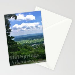 Scenic overlook of Hot Springs Arkansas Stationery Cards