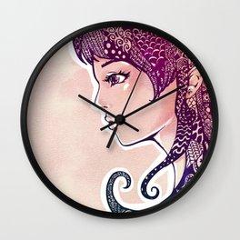 Decorated Hair Girl Wall Clock