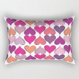 colerfull hearts Rectangular Pillow