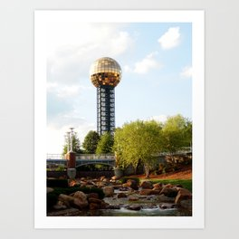 Knoxville Sunsphere 3 Art Print