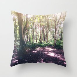 Forest Glare Throw Pillow