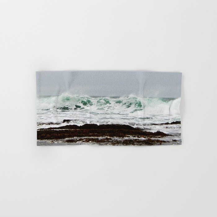 Green Wave Breaking Hand & Bath Towel