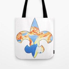 Fleur De Lis Goldfish Tote Bag