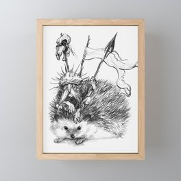 Gwaelog, hedgehog faery Framed Mini Art Print