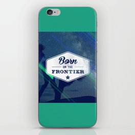 Born on the Frontier (Neon) iPhone Skin