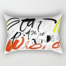 A Profound Sense of Wrong Rectangular Pillow
