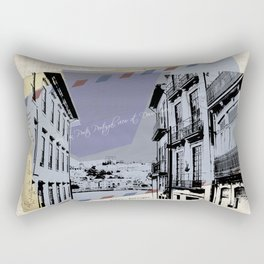 Porto, retro post card Rectangular Pillow