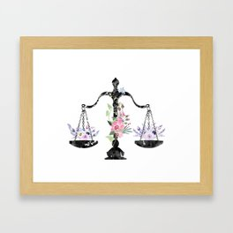 Scales of Justice Art Framed Art Print