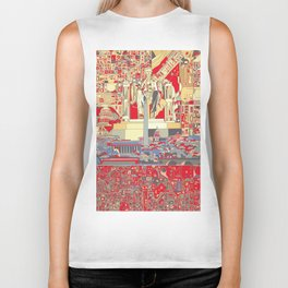 washington dc city skyline Biker Tank