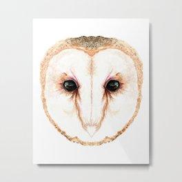Owl Face Metal Print