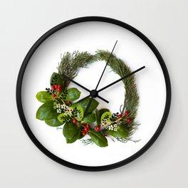 Winter Wreath Wall Clock