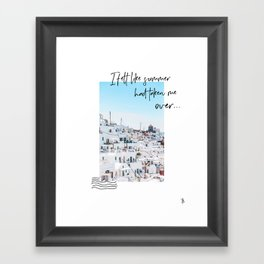 SUMMER IN GREECE digital collage art Framed Art Print