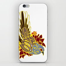 Diamond dove bird tribal tattoo iPhone & iPod Skin