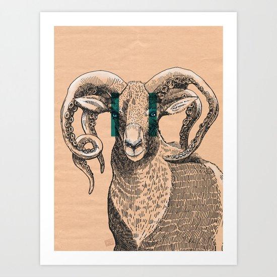 Kraken Ovis Art Print
