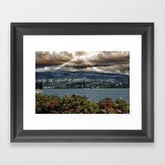 Bridge Near Vancouver Framed Art Print