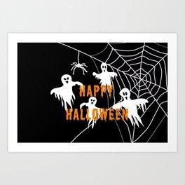 Monsters Happy Halloween Art Print